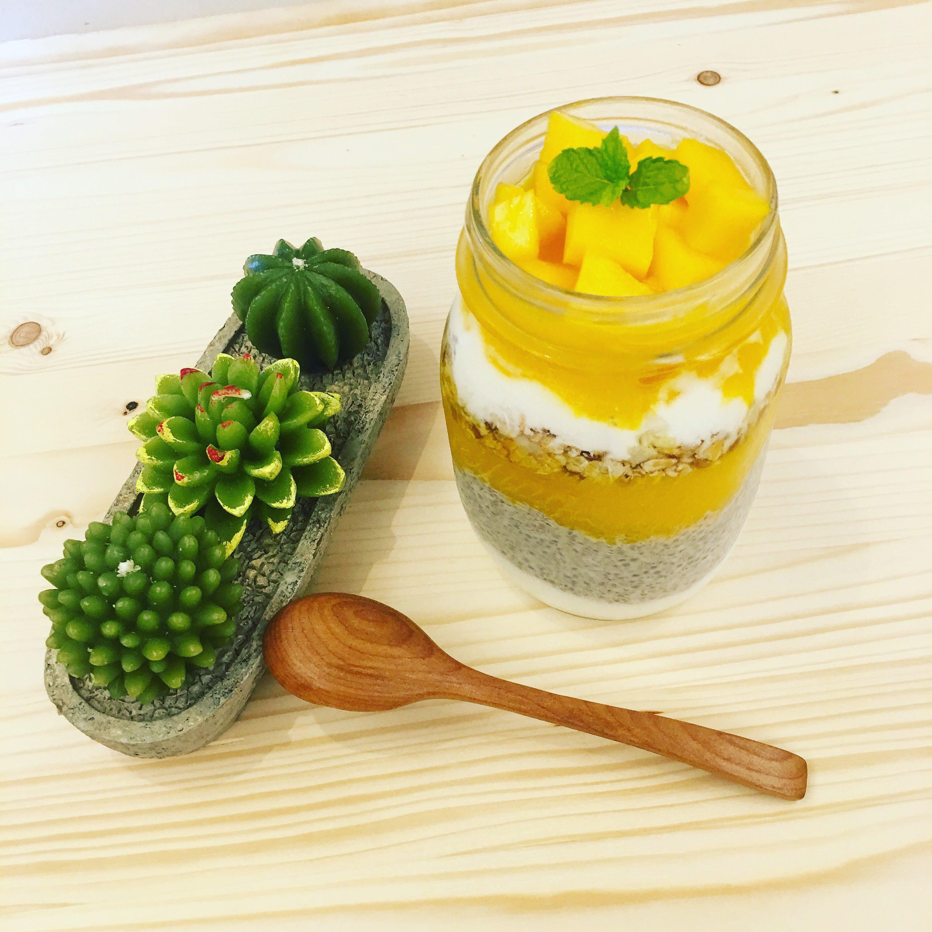 芒果優格健康早餐?